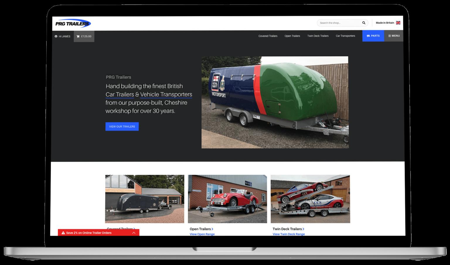 Website Design - PRG Trailers