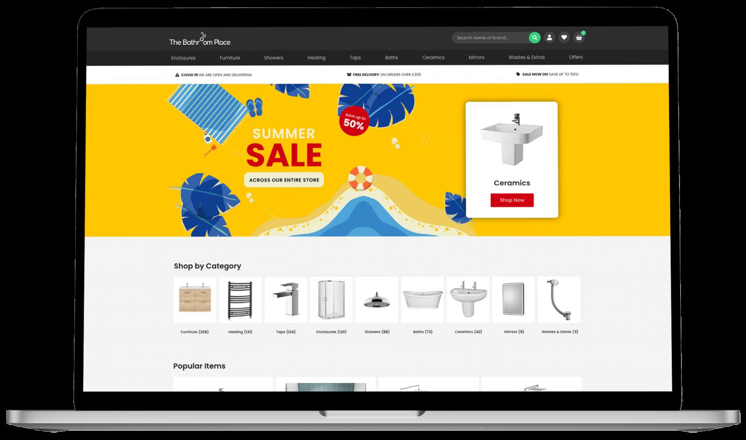 Website Design - The Bathroom Place