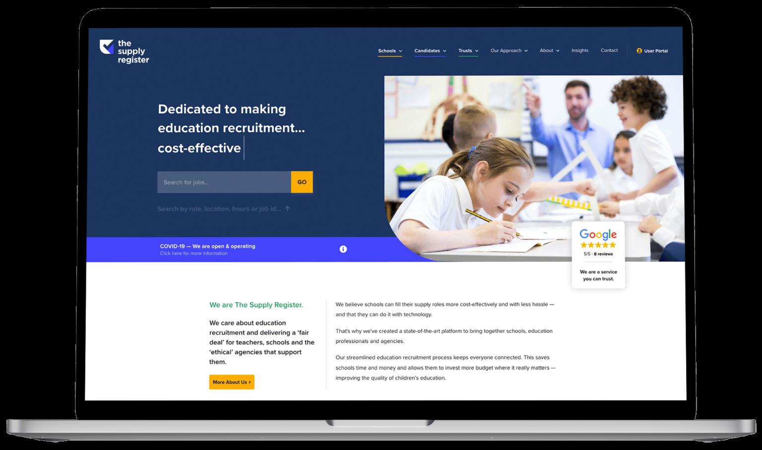 Website Design - The Supply Register
